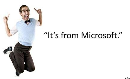 It's from Microsoft